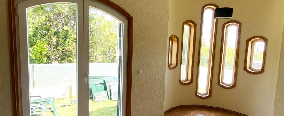 Portas exteriores e interiores em PVC